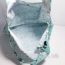 Экосумка с карманом складывающаяся в кошелек расцветки микс, фото 3