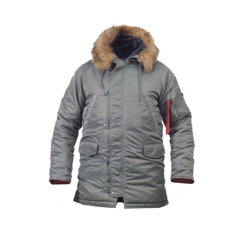 Куртка лётная slim fit аляска n-3b Gray