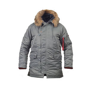 Льотна Куртка аляска slim fit n-3b Gray