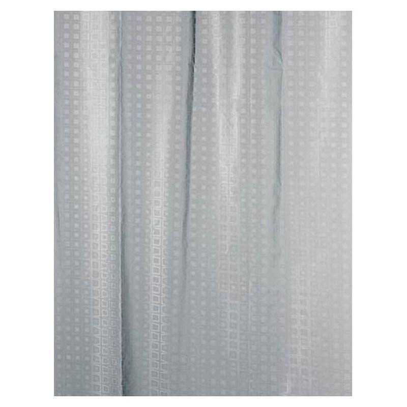 Шторка для ванны 180х200 см Bisk 3D Squares 05844 текстиль