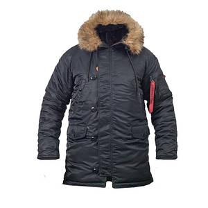Куртка зимова аляска slim fit n-3b Black