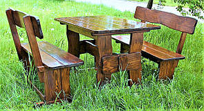 Садовая мебель из массива дерева 1100х800 от производителя для дачи, кафе, комплект Furniture set - 03