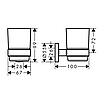 Набор аксессуаров Hansgrohe Logis 41723444 хром, фото 3