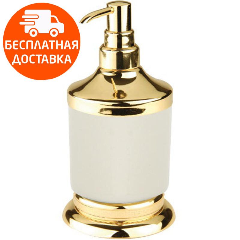 Дозатор для жидкого мыла KUGU Versace Freestand 230G золото