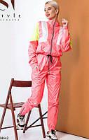 Розовый костюм плащевка,,костюмы женские больших размеров,спортивный костюм женский плащевка