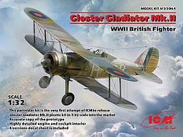 Британский истребитель Gloster Gladiator Mk. II. WWII. 1/32 ICM  32041