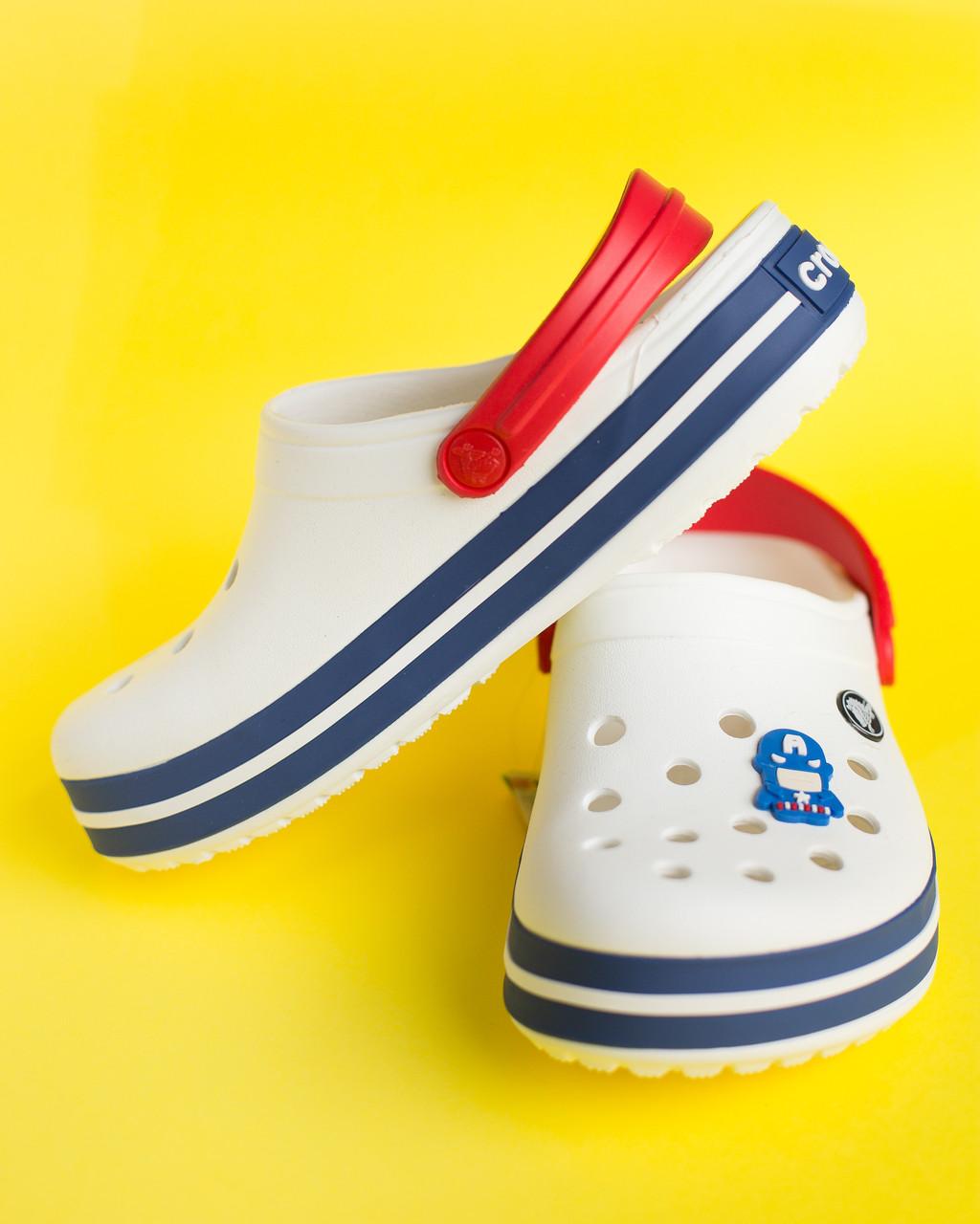 """Кроксы белые-красные """"Crocsband"""""""