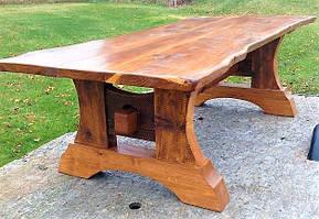 Стол ручной работы 2000х900 из массива дерева от производителя для кафе, дачи Farmhouse Table - 01