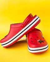 """Крокси червоні """"Сrocsband"""", фото 1"""