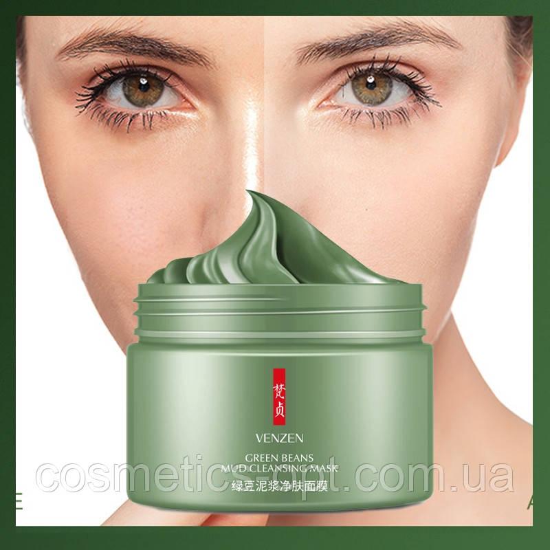 Грязевая маска с зеленой фасолью Venzen Green Beans Mud Cleansing Mask, 120 g