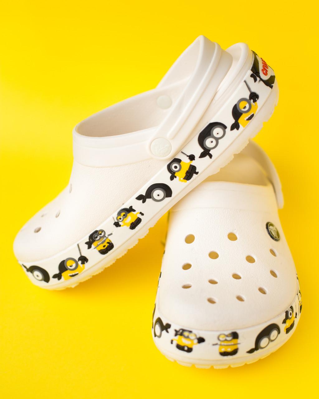 """Крокси білі """"Fun Lab Minions"""""""