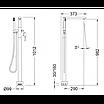 Напольный смеситель для ванны Tau 65119 18 45 66, фото 2