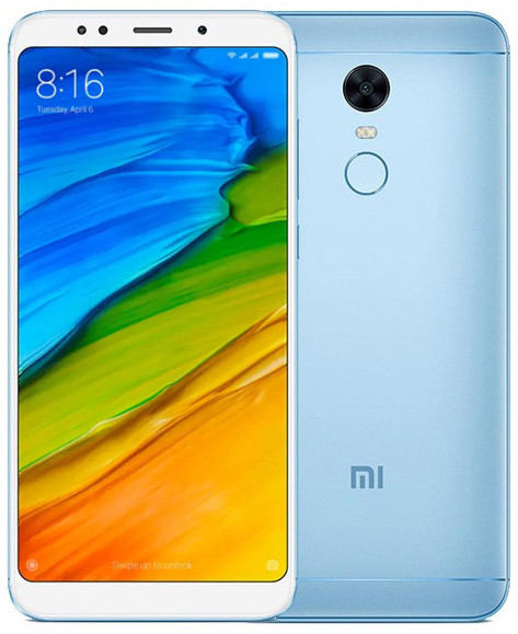 "Смартфон Xiaomi Redmi5 Plus 4/64Gb Blue EU 5.99"" RAM: 4Gb ROM:64Gb Octa-core Unlocked"