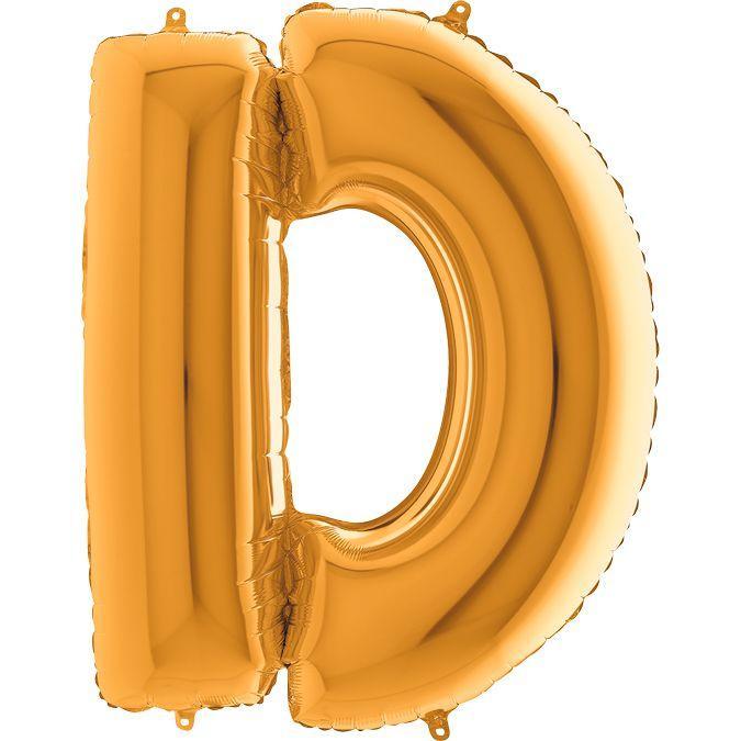 """Фольговані кульки буква золото D Grabo 40"""" упаковка"""
