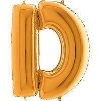 """Фольговані кулька буква золото D Grabo 40"""" упаковка"""
