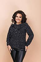Женская Рубашка в горошек Батал
