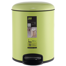 Ведро для мусора JAH 4 л (алюминий, цвет зеленый, внутреннее ведро)