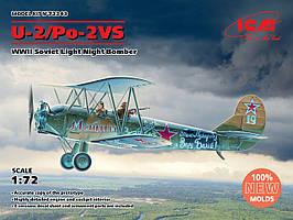 У-2/По-2ВС. Сборная модель ночного бомбардировщика в масштабе 1/72. ICM 72243