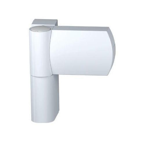 Петля дверная белая AFC AT 23, 80 кг, для металлопластиковых дверей