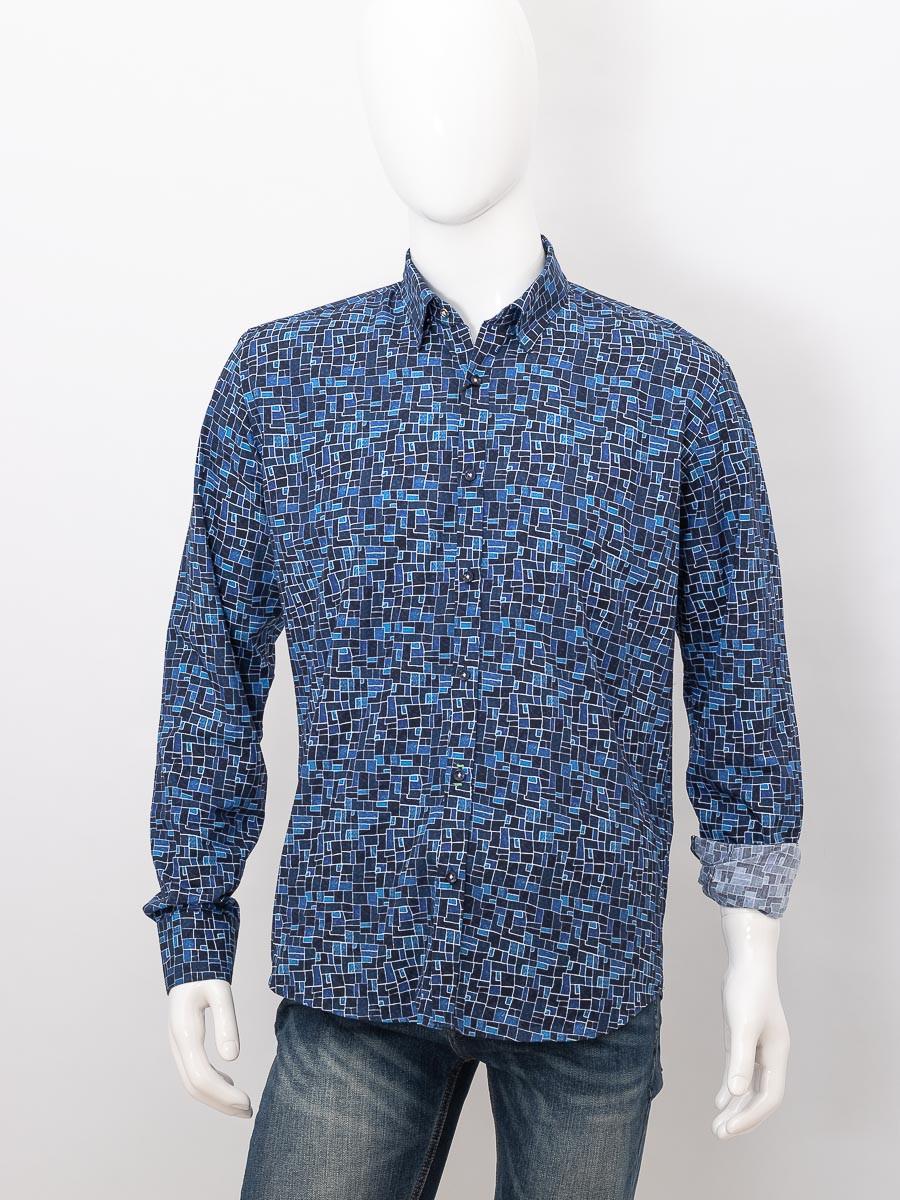 Рубашка с длинным рукавом мужская ZEN-ZEN 01572 LACIVERT 08