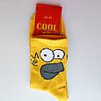 Шкарпетки чоловічі жовті Гомер 41-45 розмір, фото 4