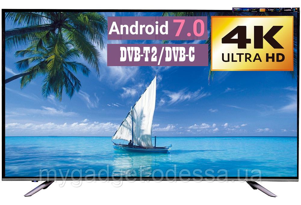 "Телевизор LED TV 58"" SmartTV 4К Android 7.0 HDMI USB VGA"