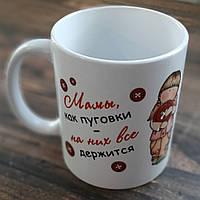 Чашка Мамы как пуговки