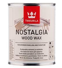 Карнаубское масло для древесины Tikkurila Nostalgia Wood Wax (бесцветный) 0,9 л