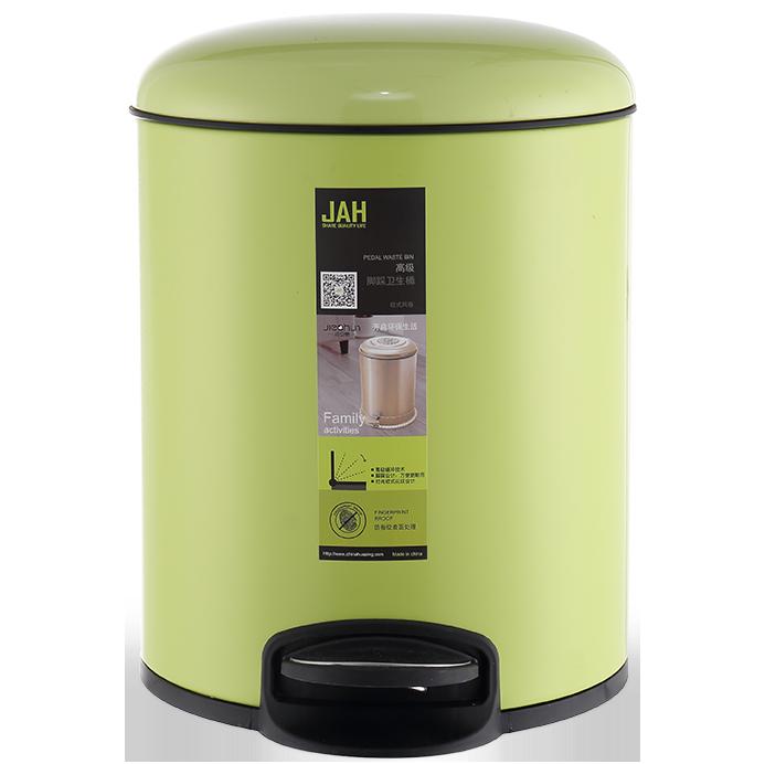 Ведро для мусора JAH 7 л (алюминий, цвет зеленый, внутреннее ведро)
