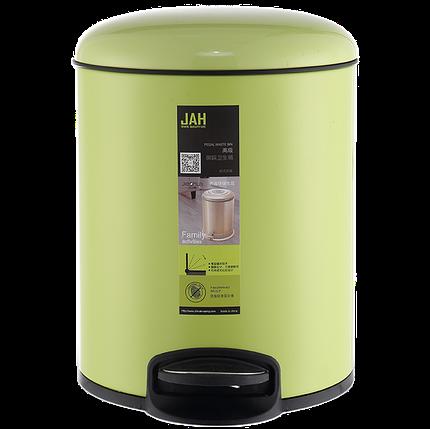 Ведро для мусора JAH 7 л (алюминий, цвет зеленый, внутреннее ведро), фото 2