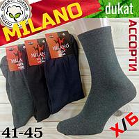 Носки мужские демисезонные x/б MILANO 41-45р. ассорти НМД-051004