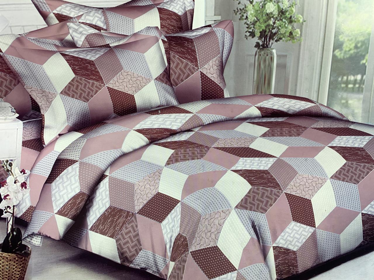 Полуторный комплект постельного белья «Мозаика» 145х215 см из полиэстера