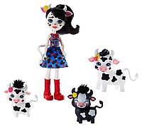 Енчантімалс набір Коровка Enchantimals Cambrie Cow Doll with Ricotta Cow, фото 1