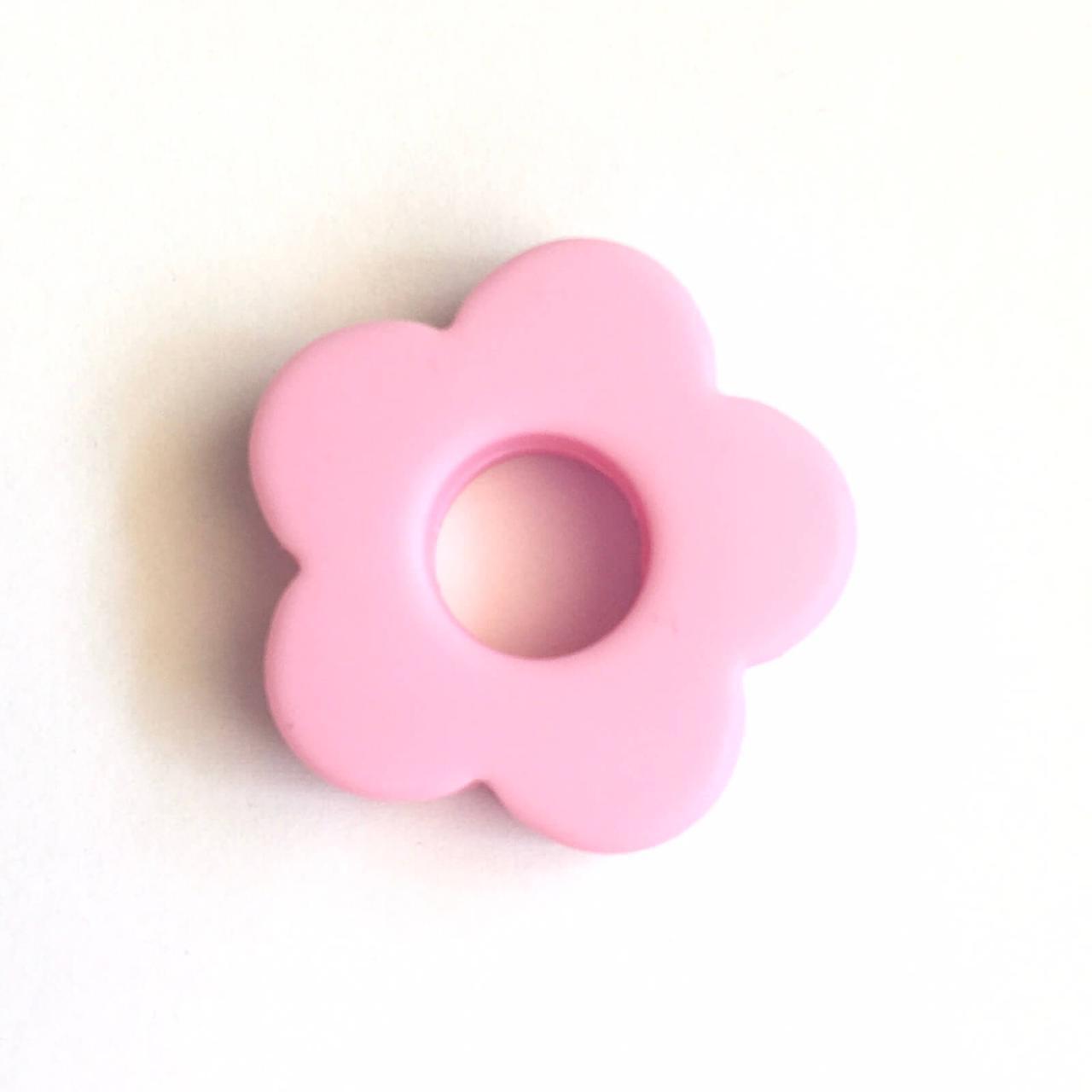 Квіточка звичайний ( пейл пінк) намистини з харчового силікону