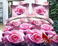 1,5-спальный комплект постельного белья Розовые розы