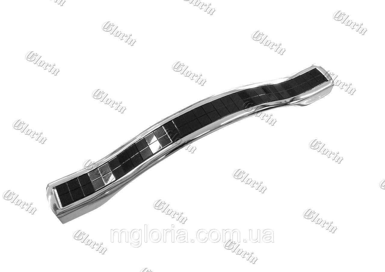 Ручка ODESSA хром / чёрная 128 мм