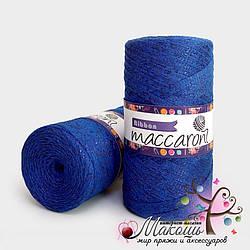 Пряжа Maccaroni Ribbon с глитером, 156, электрик