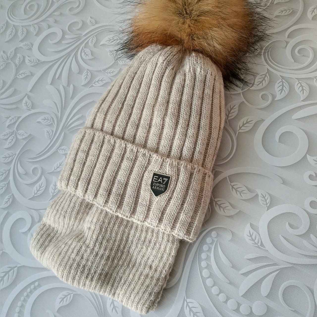 Комплект шапка с шарфом Armani детский