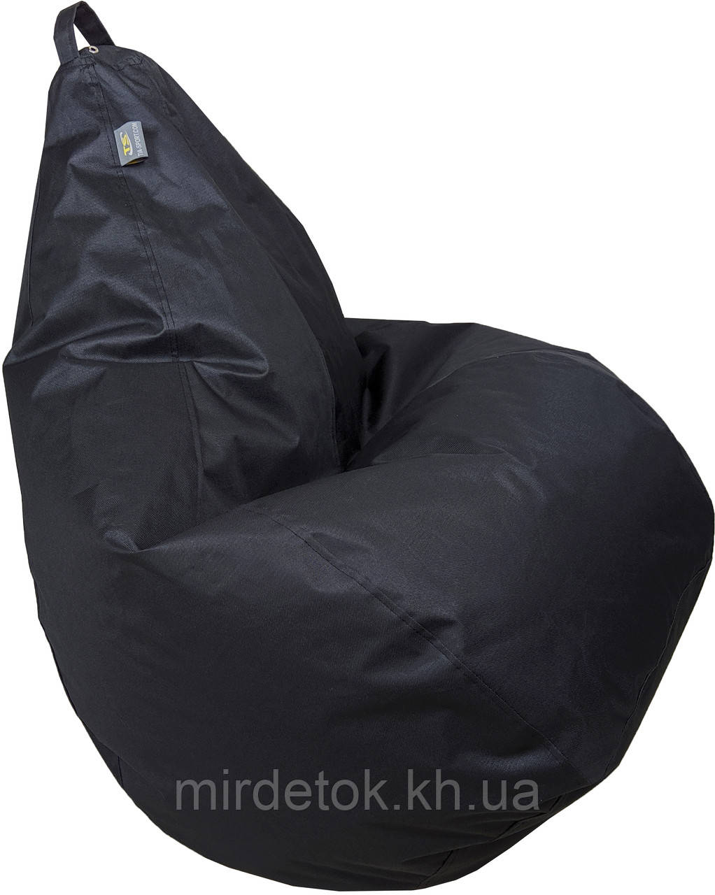 Кресло груша Оксфорд Черный