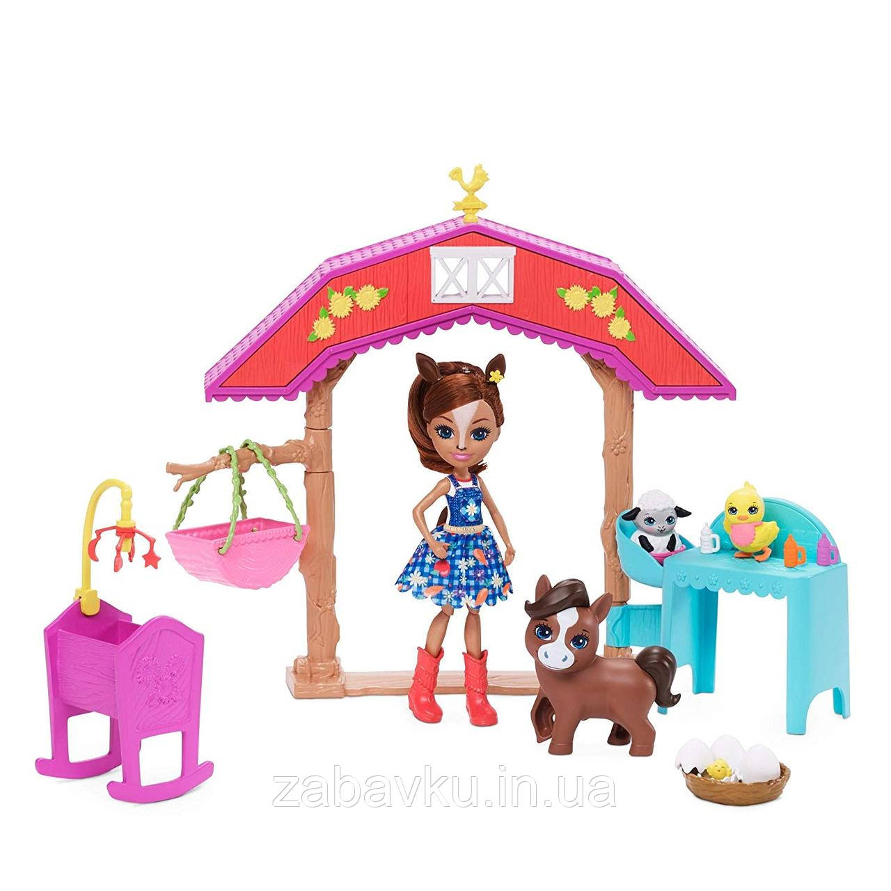 Набір Енчантімалс Коник на фермі Enchantimals Barnyard Nursery Haydie Horse