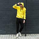 Худи желтого цвета унисекс зима модель Off White размер: XS, S, M, L, XL, фото 2