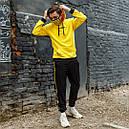 Худи желтого цвета унисекс зима модель Off White размер: XS, S, M, L, XL, фото 4
