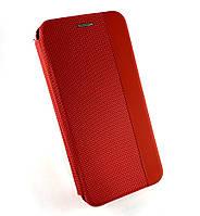 Чехол книжка противоударный боковой DEF Fabric PU для Xiaomi Redmi 7 красный