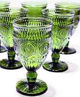 Набор Бокалов 6шт 581-077 из оливкового цветного стекла 360 мл