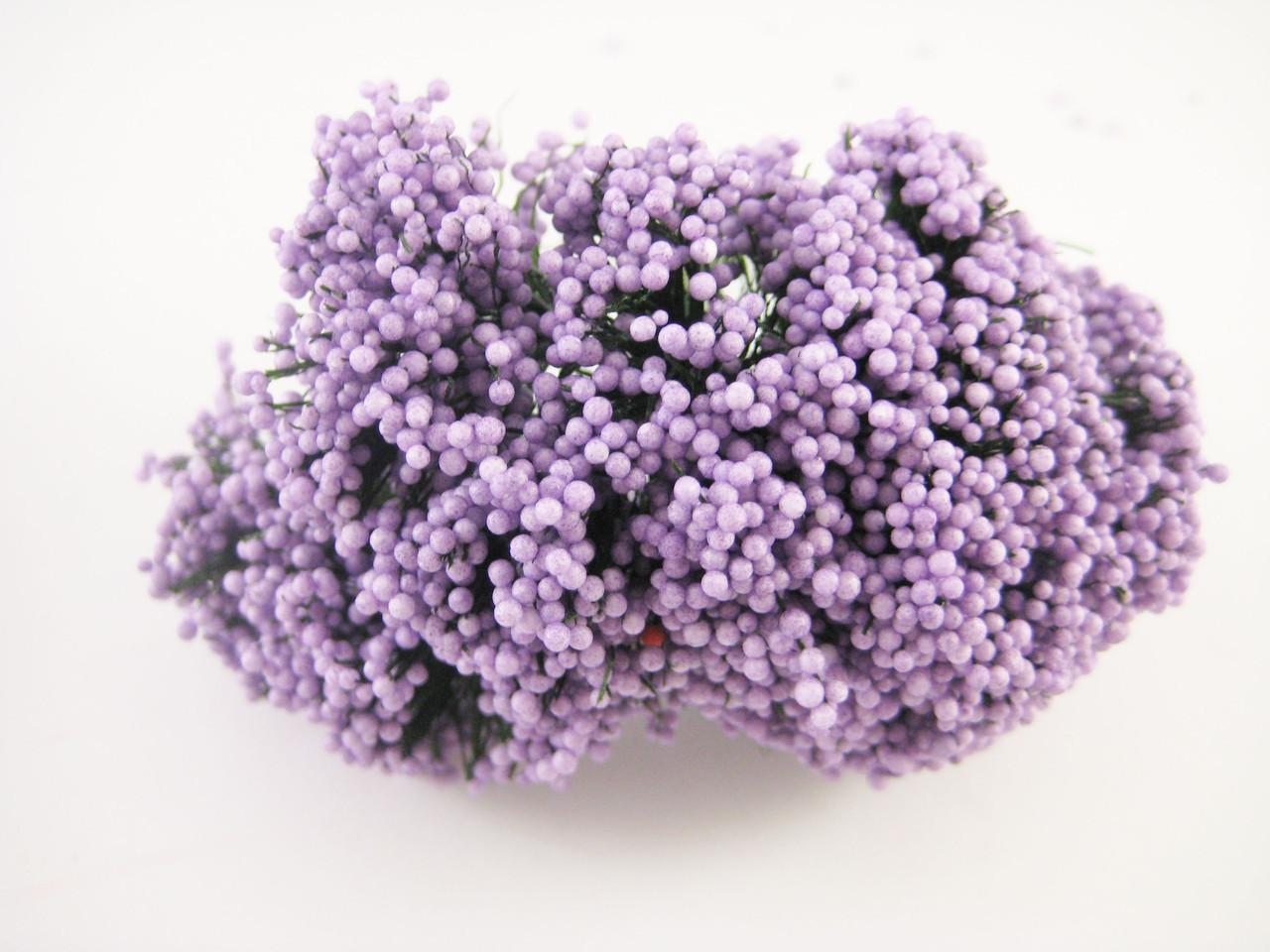 Пупыришки Фиолетовые для рукоделия на проволоке 12шт/пучок.
