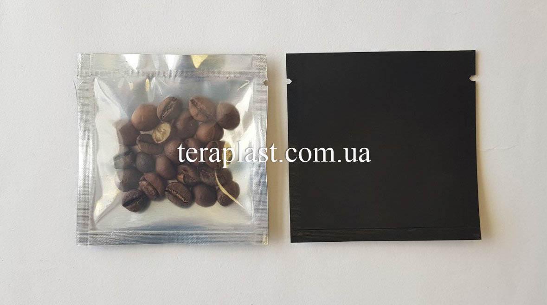 Пакет саше черный + прозрачная сторона 70х70 без зип
