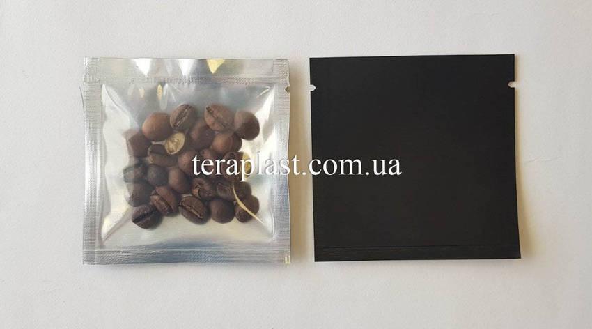 Пакет саше черный + прозрачная сторона 70х70 без зип, фото 2