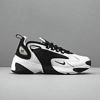 Кроссовки мужские Nike Zoom 2k Чёрно Белый / Кроссовки Найк Зум 2к .Кожа и текстиль.