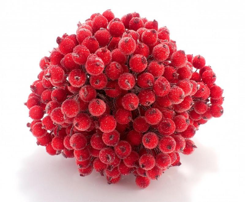 ОПТ Калина сахарная для рукоделия  Ø12мм, 400 ягодок Цвет - Красный