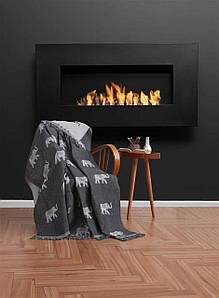 Плед-накидка Eponj Home Buldan Keten - Fil 170*220 siyah черный